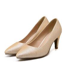 Women's Wet look and Shiny Slim Heels
