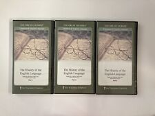 Great Courses History of the English Language Parts 1-3 6 DVD Set with Booklets