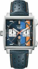New TAG Heuer Monaco Gulf Steve McQueen Men's Watch CAW211R.FC6401