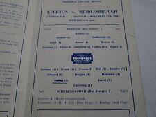 1945-46 LEAGUE NORTH EVERTON v MIDDLESBROUGH