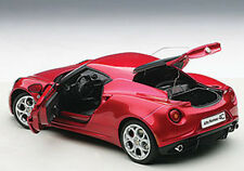 Autoart ALFA ROMEO 4C RED Composite Model in 1/18 Scale. New Release! In Stock!