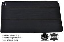 Negro Stitch 2x Completa Frontal Puerta tarjeta Cubierta De Cuero Para Bmw E10 2002 1802 Tii