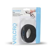 VELCRO ONE-WRAP Reusable Adjustable Wraps Black 25mmX2m Organising Wires Cables
