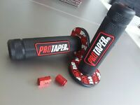 Trials Motocross Motorcycle Pro Taper Grips Free Dust Caps