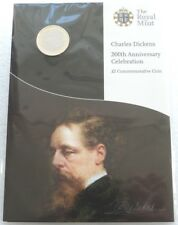 2012 Royal Mint Charles Dickens 200th Anniversary BU £2 Two Pound Coin Sealed
