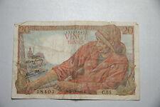 VINGT FRANCS 20 Franc note