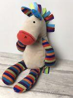 Little Jelly Cat Jazzy Jazzie Pony Horse Donkey Striped Soft Toy Rattle JL126 VG