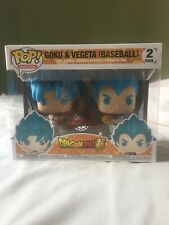 Funko Pop Goku & Vegeta Baseball 2 Pack Special Edition Hot Topic Mint With PP