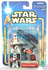 Star Wars AOTC Attack of the Clones 17 Clone Trooper with Firing Tripod Cannon!