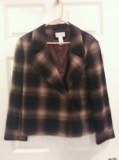 Worthington CHIC Ladies Plaid Blazer/Jacket Lined 12P nwot