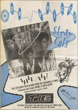 1/4/89Pgn15 Advert: The Stray Cats Explosive New Album 'blast Off!' 15x11