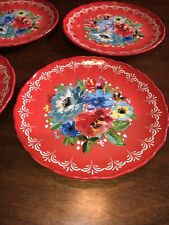 Pioneer Woman Melody Salad Plate Set of 4 NWT