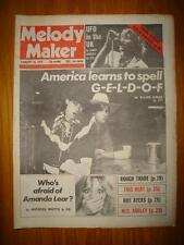 MELODY MAKER 1979 FEB 10 BOB GELDOF ROUGH TRADE UFO