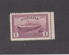 CANADA (MK3639) # 273 VF-MNH  $1 1946 TRAIN FERRY PEI / RED VIOLET CAT VALUE $83