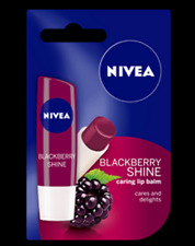 Nivea Lip Balm Blackberry Shine Lasting Moisture and Fruity Berry Tint