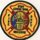 "Fort Leonard Wood MO Missouri Fire Dept. 3.5"" Round Patch"