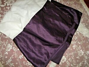 "VERATEX NOCTURN EGGPLANT PURPLE AMETHYST SATEEN QUEEN BEDSKIRT 14"" DROP"