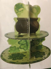 St Patricks Cupcake Stand Cake Stand Paper Dessert Holder Festive Party Supplies