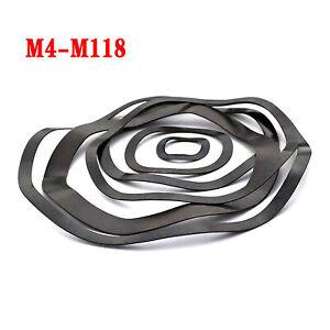 Wavey Washers Spring Crinkle Wave Metric M3 to M118 Black Zinc Plated Steel