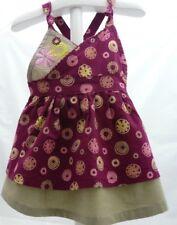 Graine de rêve robe à brides prune et beige motif fleurs bébé 3 mois