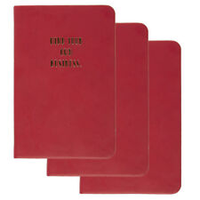 3pk C.R. Gibson Mini 3.5 x 5.5 Journals Funny Quote Small Writing Notebooks Set