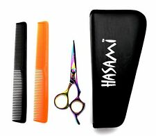 Hasami  Hair Cutting Scissors Righty 5.0 in. Titanium Finish Cutting Shears Set