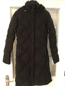 The North Face Ladies Long Down Padded Coat Black, Size Extra Small