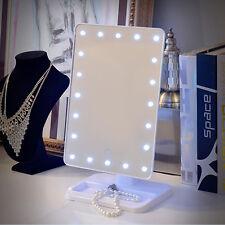 20 LED Kosmetikspiegel Schminkspiegel Standspiegel mit Touch Screen Weiß AL 02