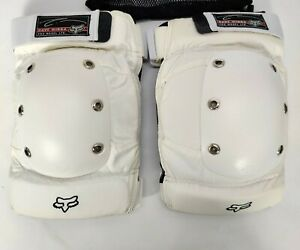 FOX Knee Guards Pads Adult Size Large White DAVE MIRRA Axis