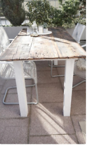Oak dining table Rustic table Live Edge dining table Massive solid table