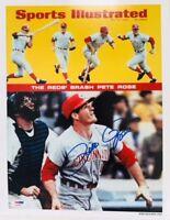 Pete Rose Signed Cincinnati Reds 11x14 Sports Illustrated Print - PSA/DNA - MLB