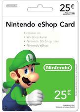 €25 Nintendo eShop Card 25 Euro Wii U / DSi / 3DS Key Gutschein Code [DE/EU]