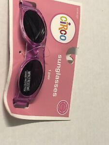 BABY Infant Toddler Girls CIRCO CHILD Purple UV SUNGLASSES~ADJUSTABLE HEAD STRAP