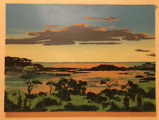 Ranulph Bye Rural Landscape Print 1947 Pencil Signed Numbered 18X12 Silkscreen ?