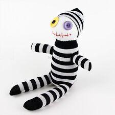 Handmade Black White Striped Sock Monkey Clown Stuffed Figure Doll Baby Gift Toy