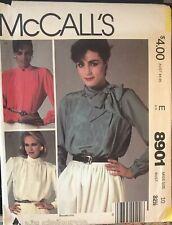 McCall's Liz Claiborne pattern 8901 Misses' Blouses size 10 bust 32-1/2 uncut