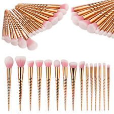 15Pcs PRO Unicorn Make up Brushes Set Powder Foundation Eyeshadow Contour Brush