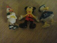3 small vintage walt disney figures