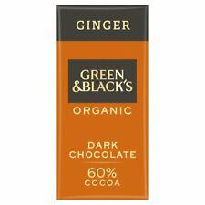 4 x 90 G | g&b 's Organic Ginger 90 g bar 60% de cacao | 4 x 90 G | Free p&p