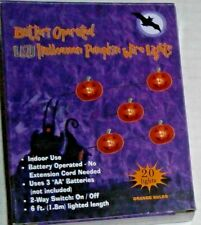 Halloween LED PUMPKIN WIRE LIGHTS Battery Operated,Orange Bulbs,Battery Operated