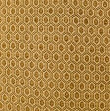 """Sample Of 57"""" Wide Honeycomb Upholstery Drapery Chenille Fabric Gold"""