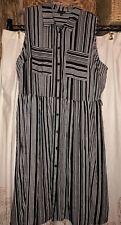 Who What Wear women ladies dress size 2X sleeveless black white