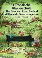 Klavier Noten Schule : Europäische Klavierschule Band 2 (Fritz EMONTS)