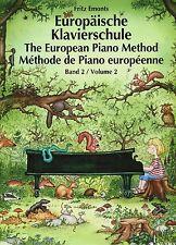 Piano notes école: européenne piano école volume 2 (Fritz Emonts)