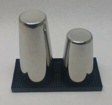 3 Pc. Bar Cocktail Shaker & Spill Mat Kit Stainless Steel Set Boston Mixing Tin