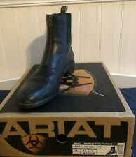 Mens Black Leather ARIAT HERITAGE III LACER Roper Riding Boots mens size 10D