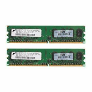4GB ( 2x 2GB ) PC2-6400U DDR2 800MHz 240Pin DIMM SDRAM Desktop Memory For Micron