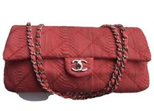 Chanel Red Python East West Flap Bag