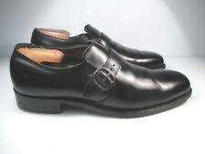 Alden for Newkirk's BLACK LEATHER MONK STRAP size  10 AAA/A
