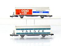 Roco 25067 + 25068 N Schiebewandwagen VALSER + COOP  SBB/CFF mit Mängeln